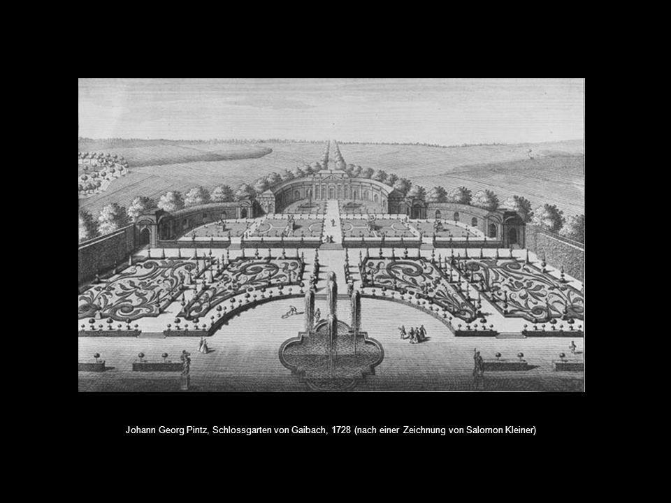 Johann Georg Pintz, Schlossgarten von Gaibach, 1728 (nach einer Zeichnung von Salomon Kleiner)
