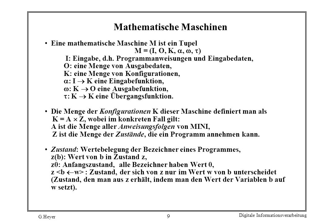 Mathematische Maschinen