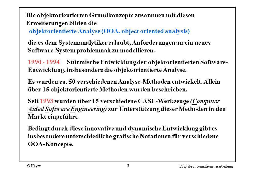 objektorientierte Analyse (OOA, object oriented analysis)
