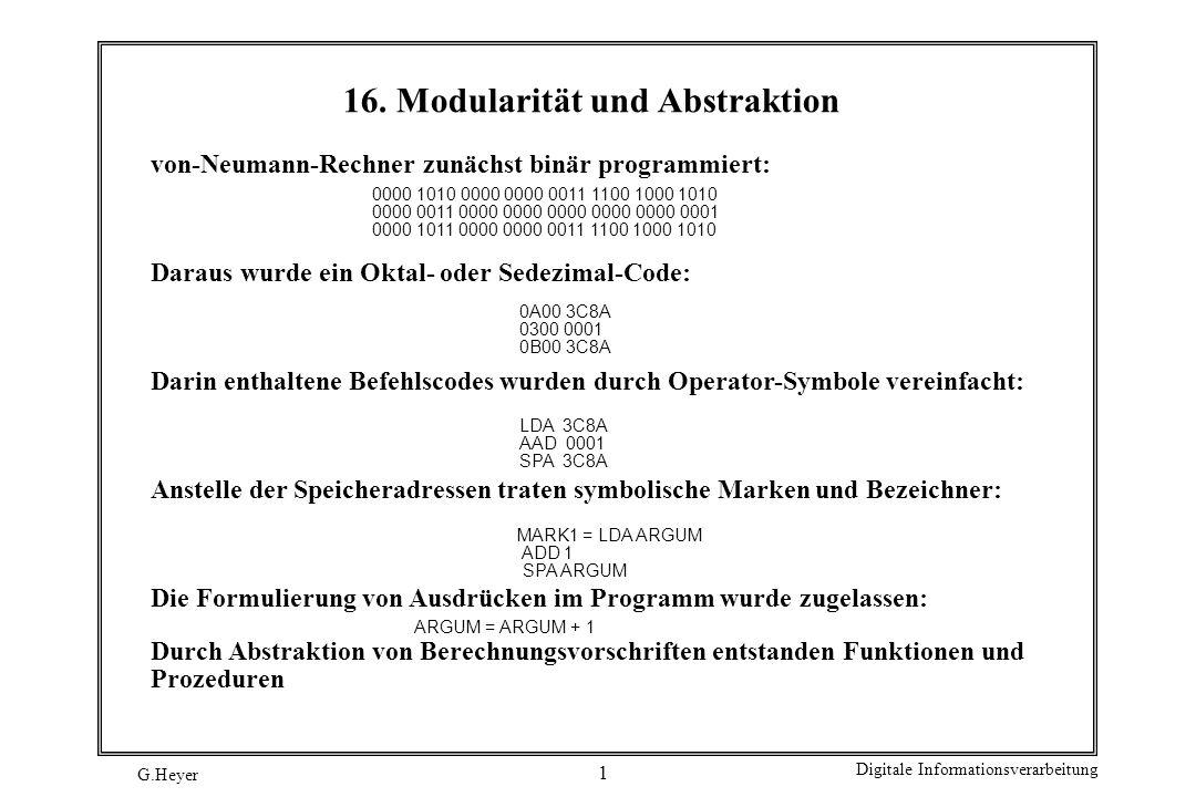 16. Modularität und Abstraktion