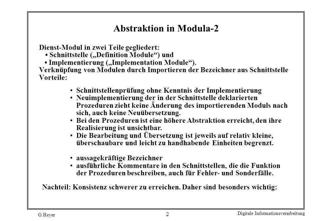 Abstraktion in Modula-2