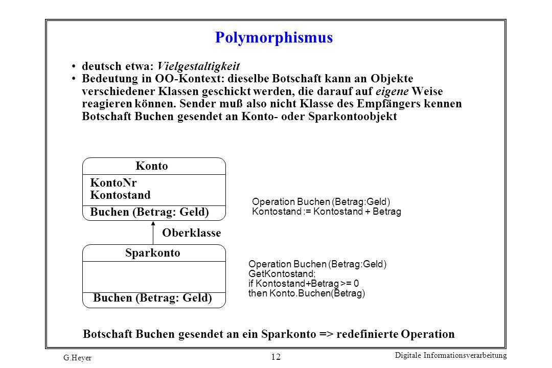 Polymorphismus deutsch etwa: Vielgestaltigkeit