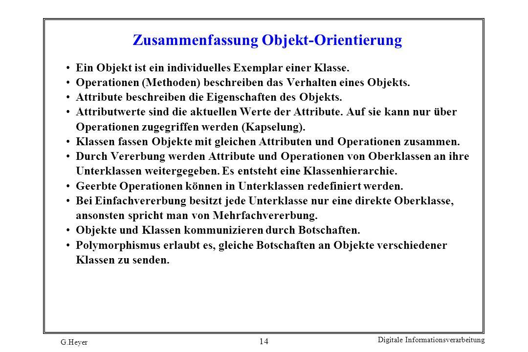 Zusammenfassung Objekt-Orientierung