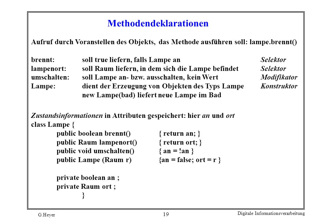 Methodendeklarationen