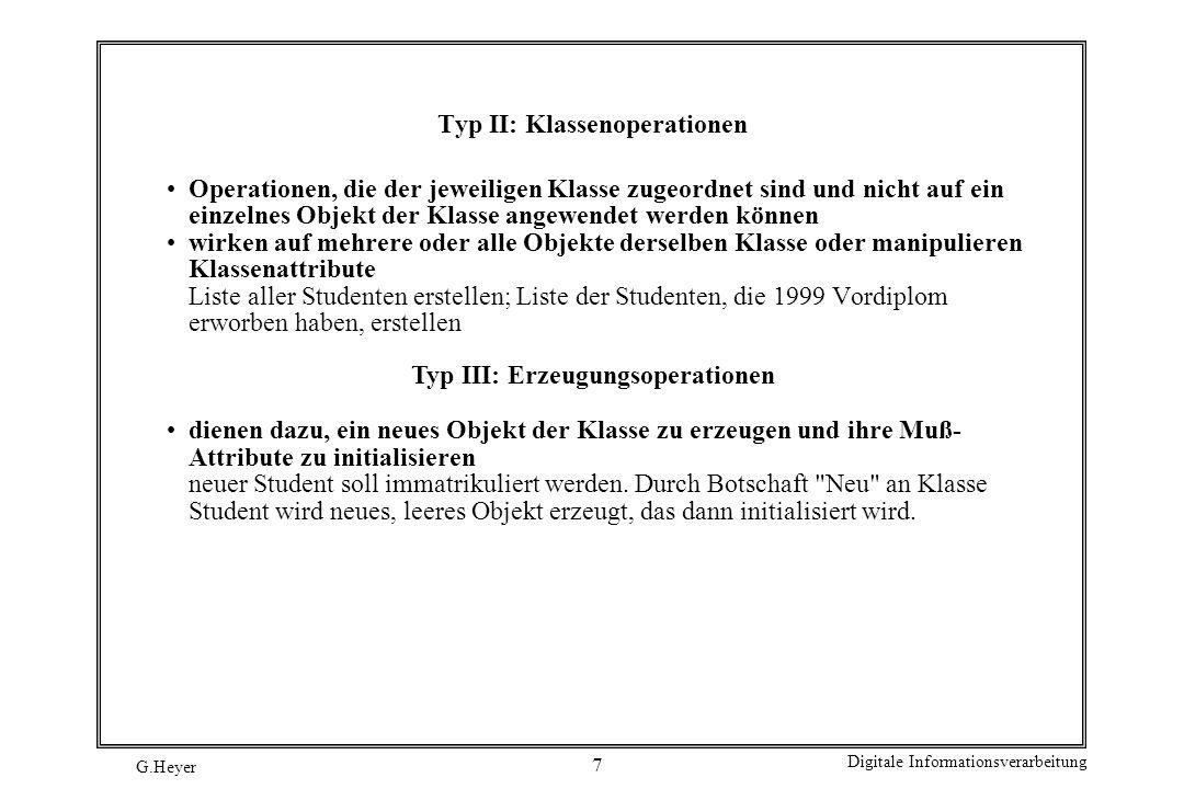 Typ II: Klassenoperationen