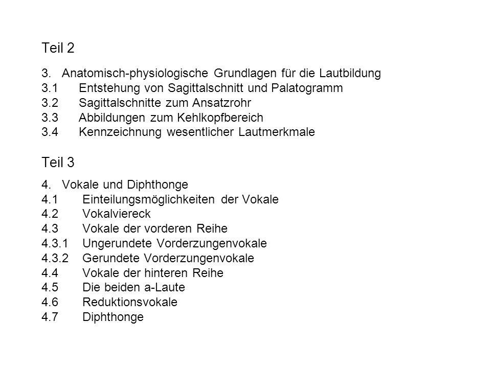 Teil 2 3. Anatomisch-physiologische Grundlagen für die Lautbildung 3