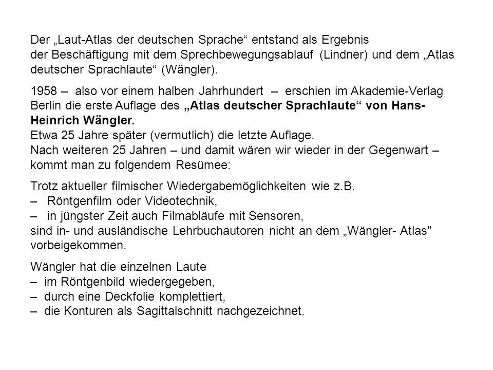 """Der """"Laut-Atlas der deutschen Sprache entstand als Ergebnis"""