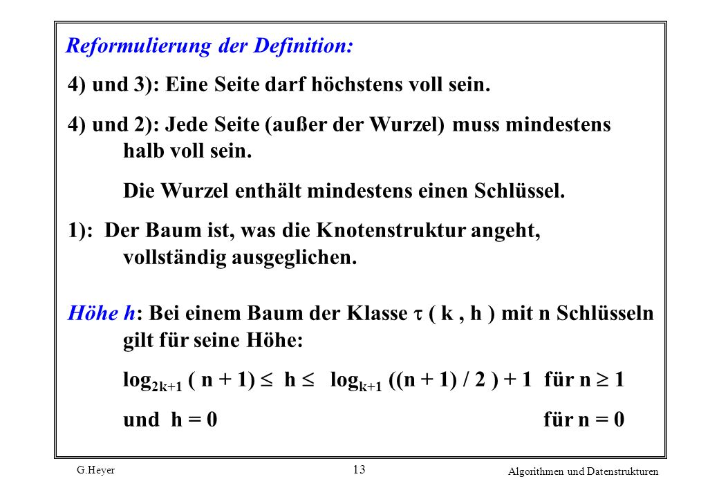 Reformulierung der Definition: