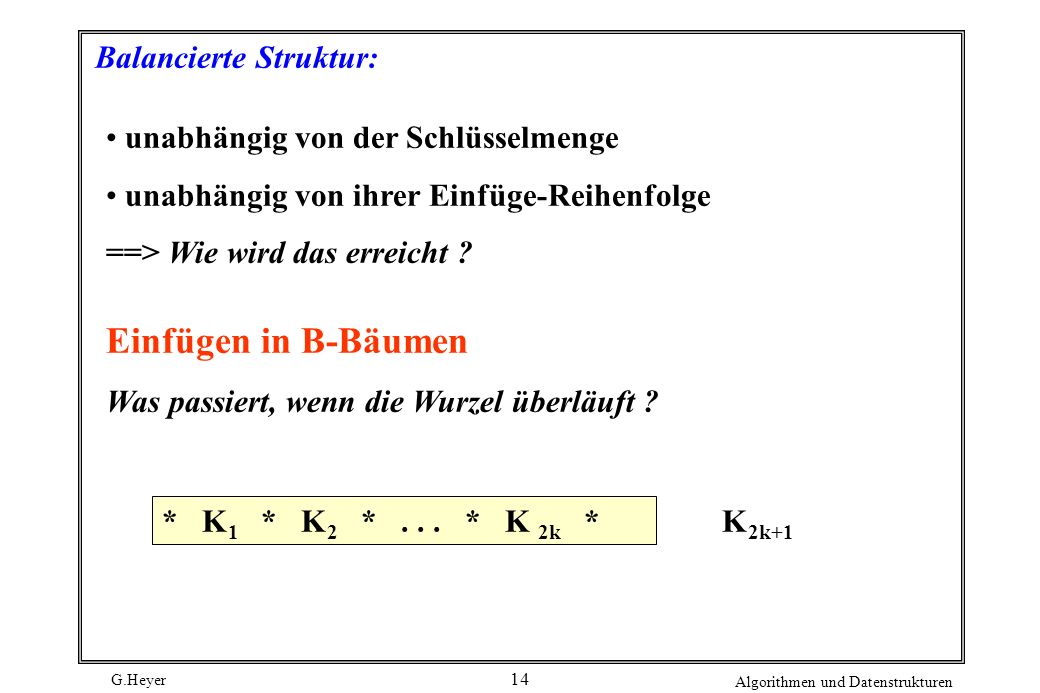 Balancierte Struktur: