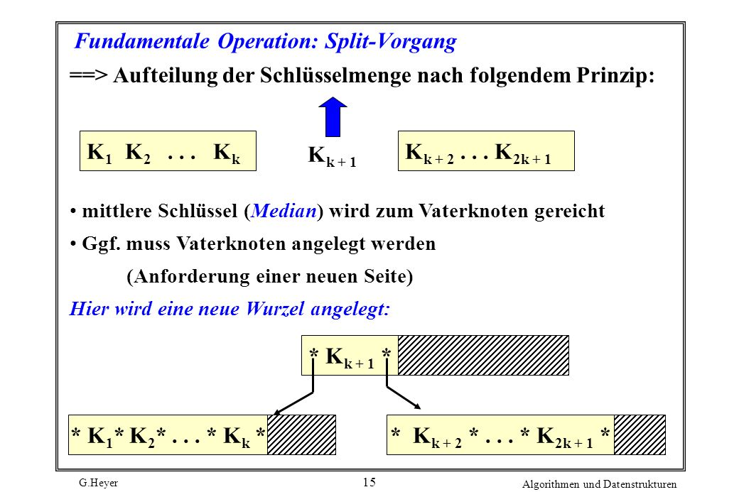 Fundamentale Operation: Split-Vorgang