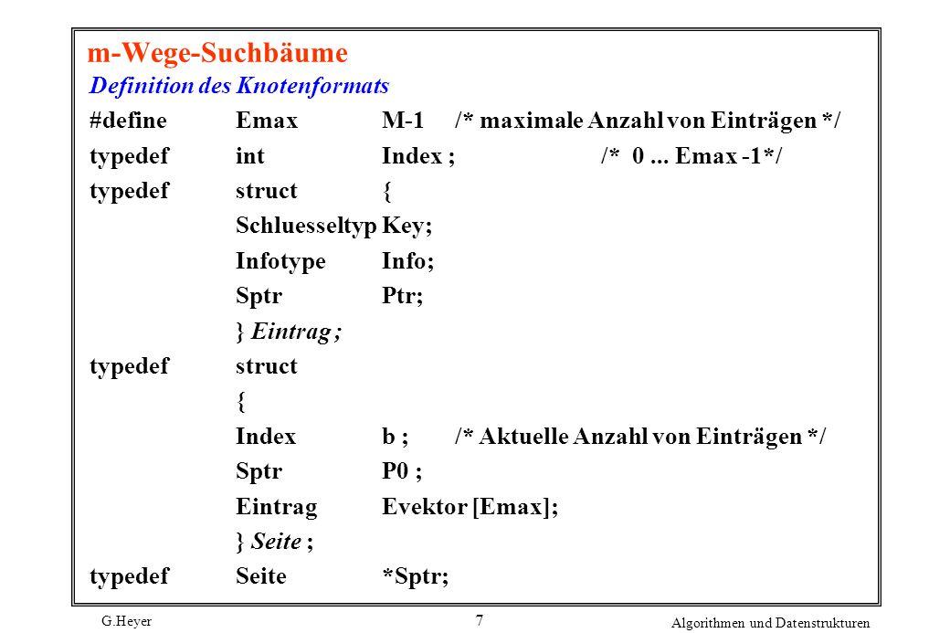 m-Wege-Suchbäume Definition des Knotenformats