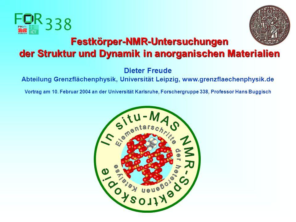 NMR-Festkörper-Hochauflösung für Strukturuntersuchungen
