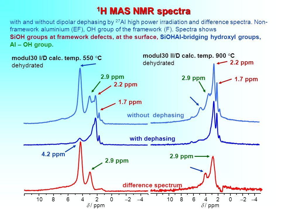 1H MAS NMR spectra