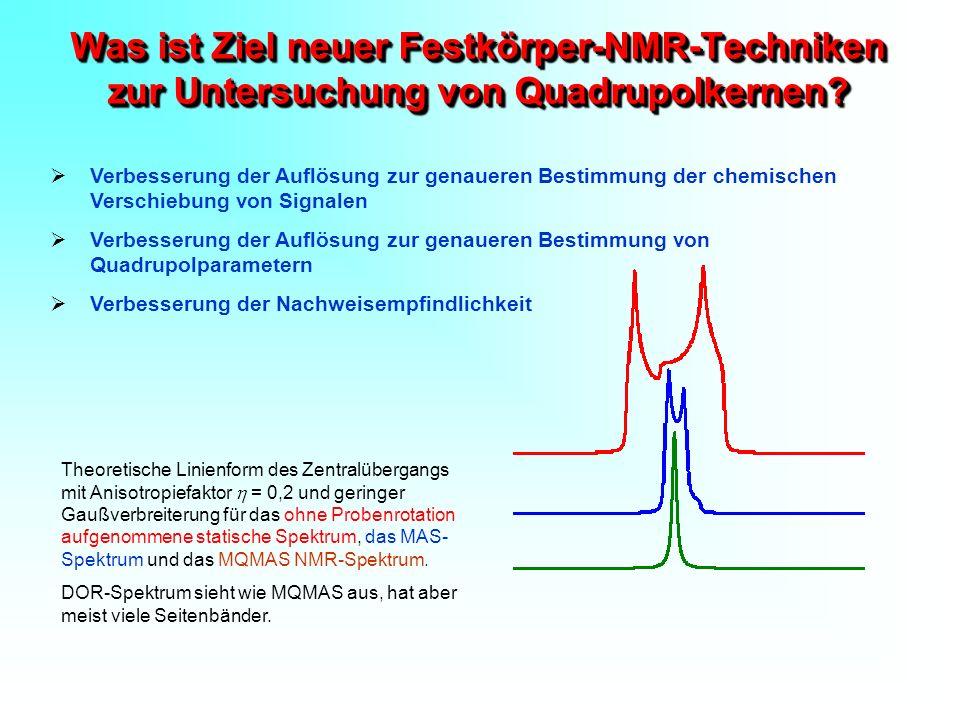 Was ist Ziel neuer Festkörper-NMR-Techniken zur Untersuchung von Quadrupolkernen