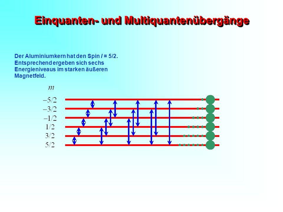Einquanten- und Multiquantenübergänge