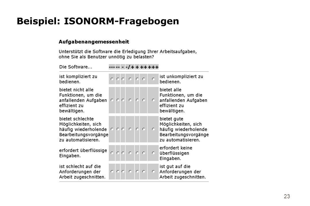 Beispiel: ISONORM-Fragebogen