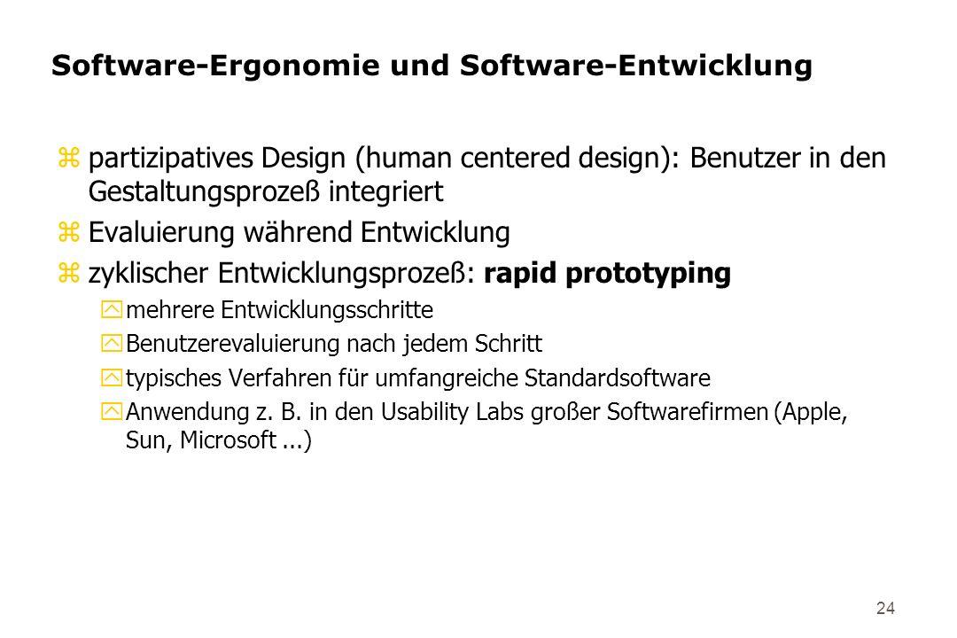 Software-Ergonomie und Software-Entwicklung