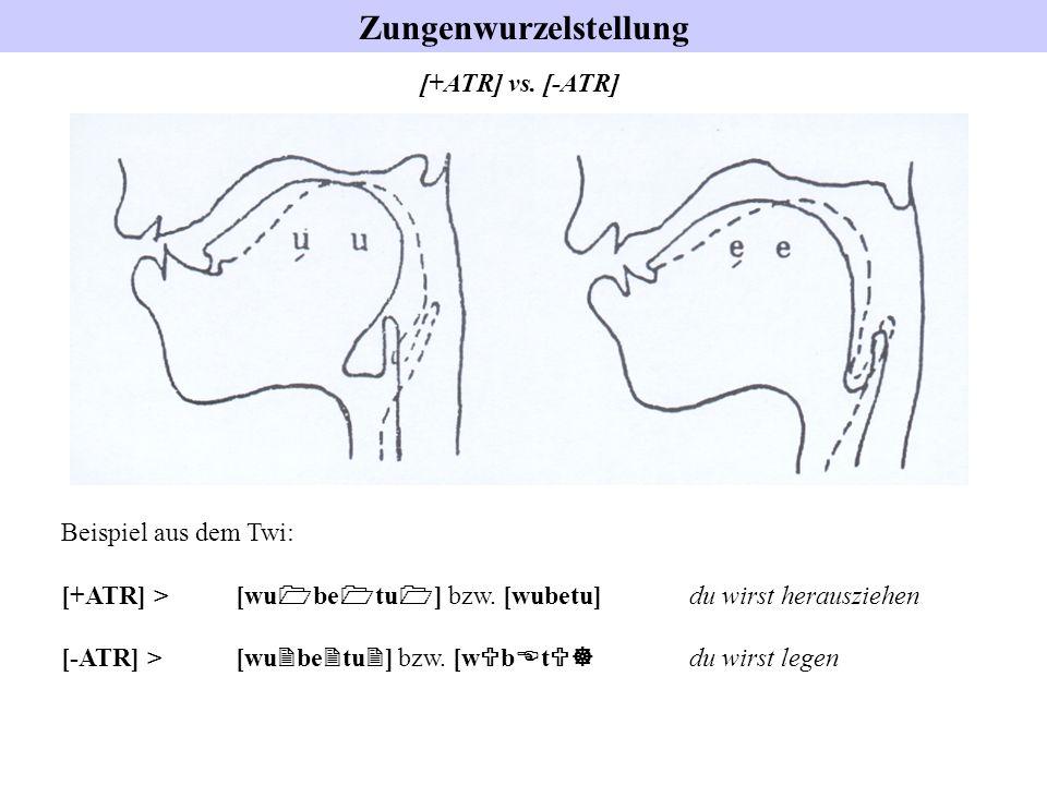 Zungenwurzelstellung