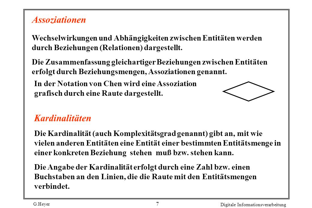 Assoziationen Kardinalitäten