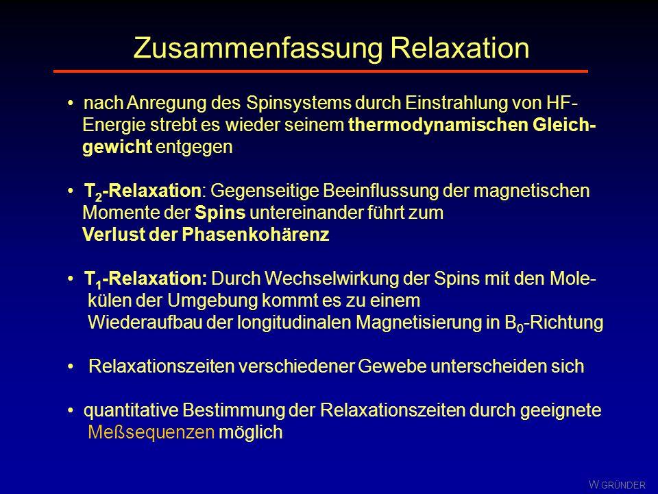 Zusammenfassung Relaxation
