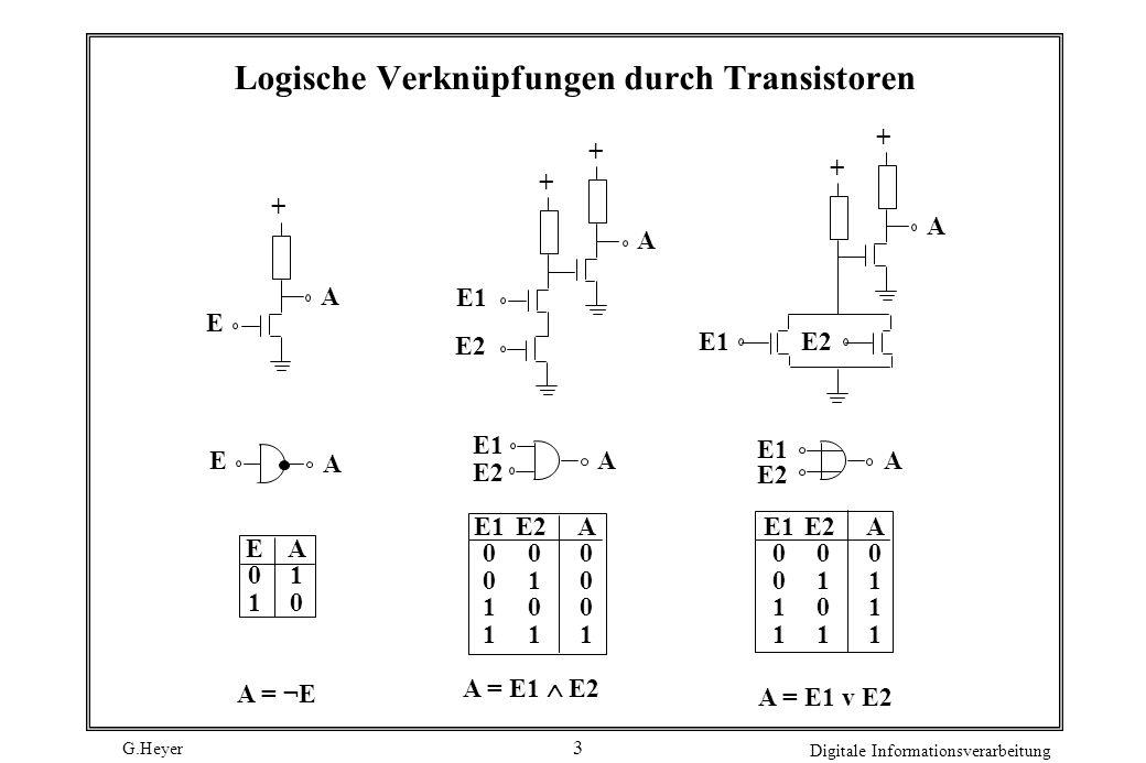Logische Verknüpfungen durch Transistoren
