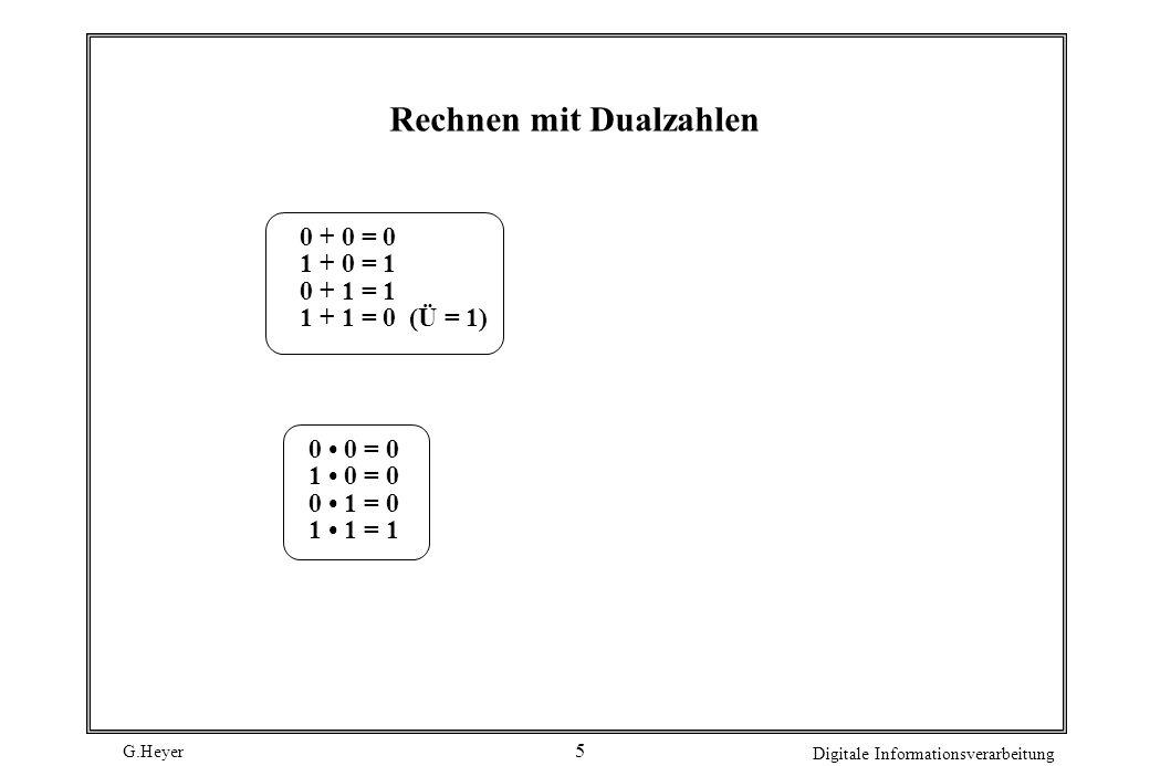 Rechnen mit Dualzahlen