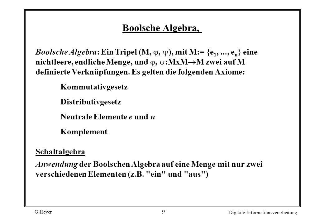 Boolsche Algebra,