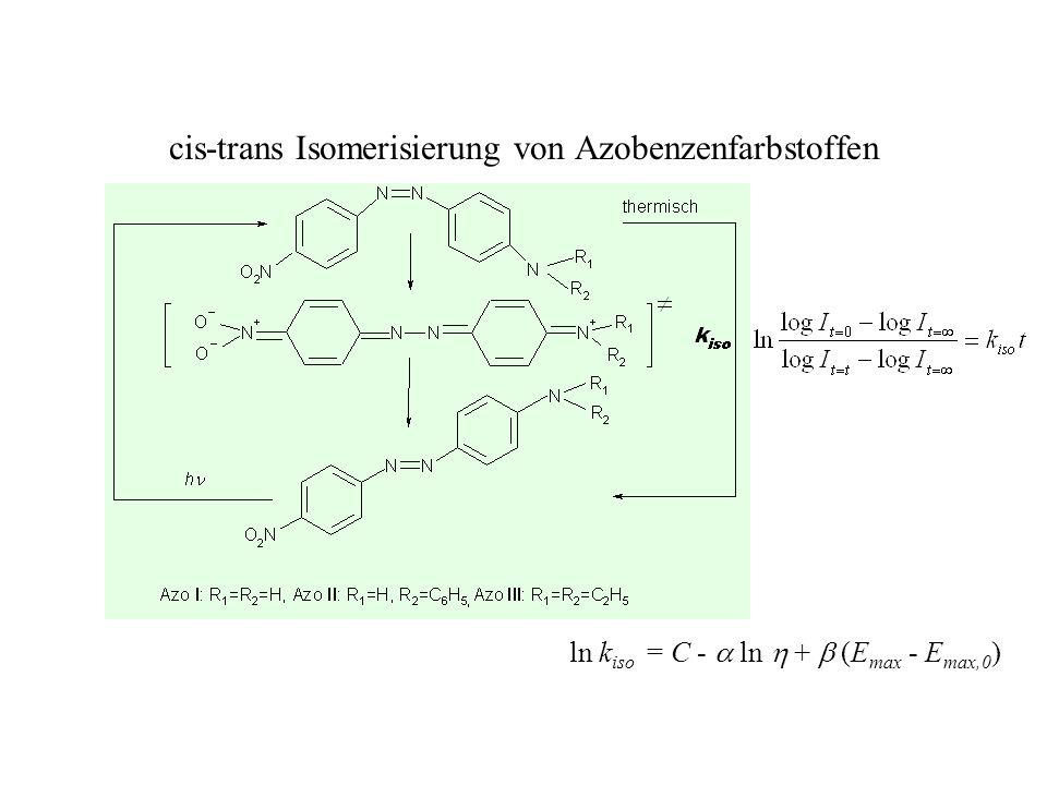 cis-trans Isomerisierung von Azobenzenfarbstoffen