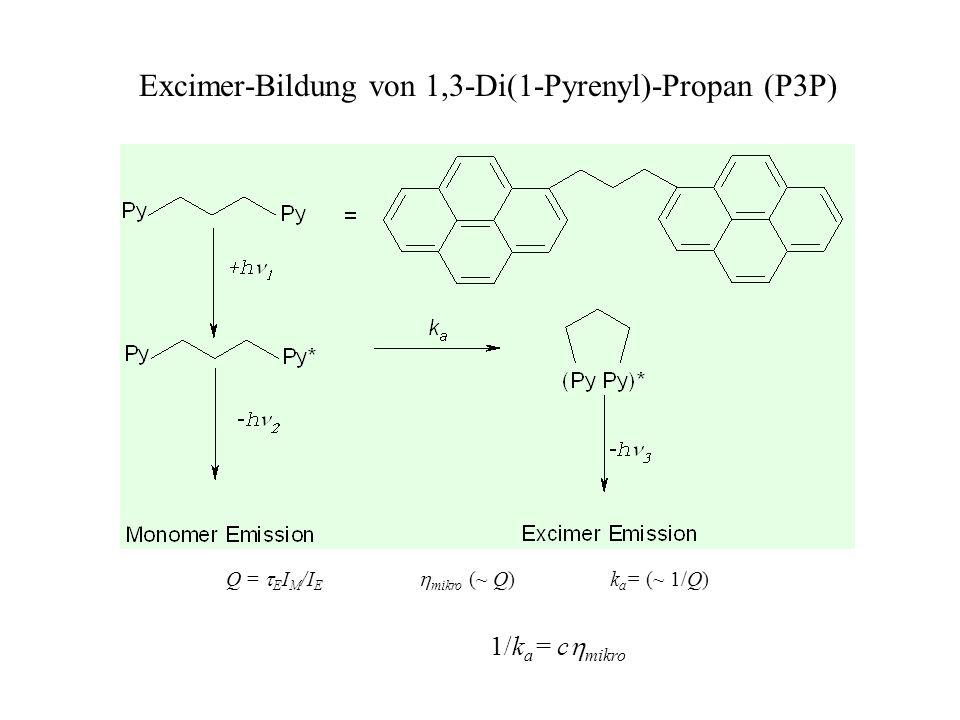 Excimer-Bildung von 1,3-Di(1-Pyrenyl)-Propan (P3P)