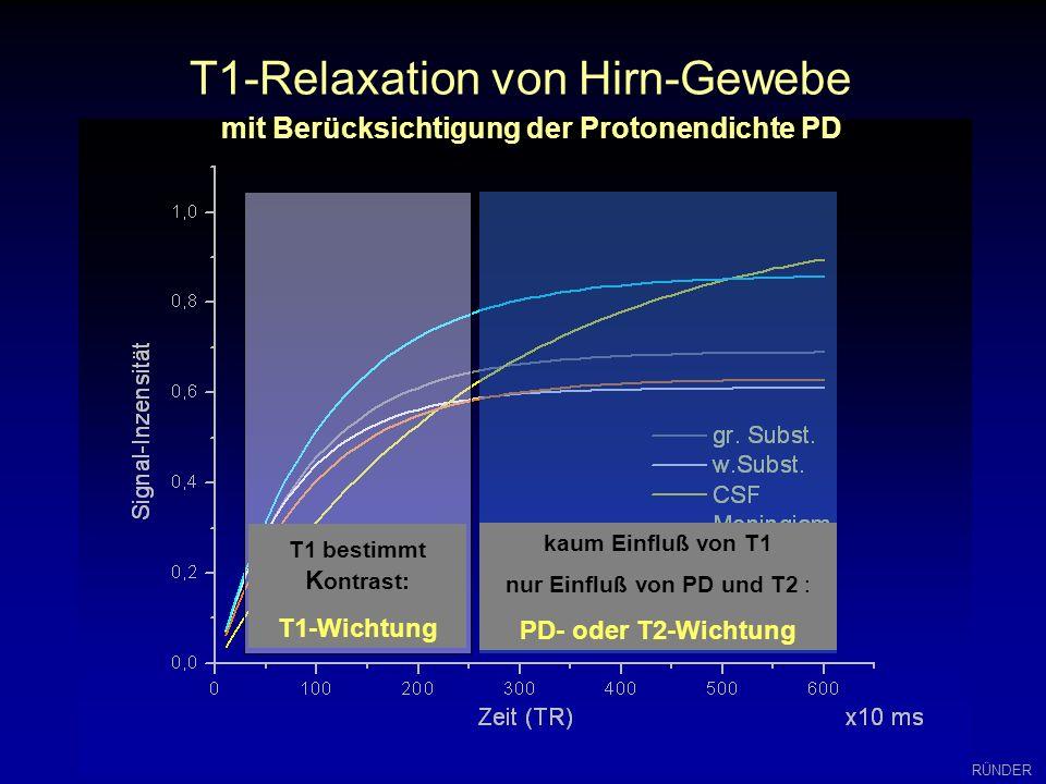 mit Berücksichtigung der Protonendichte PD