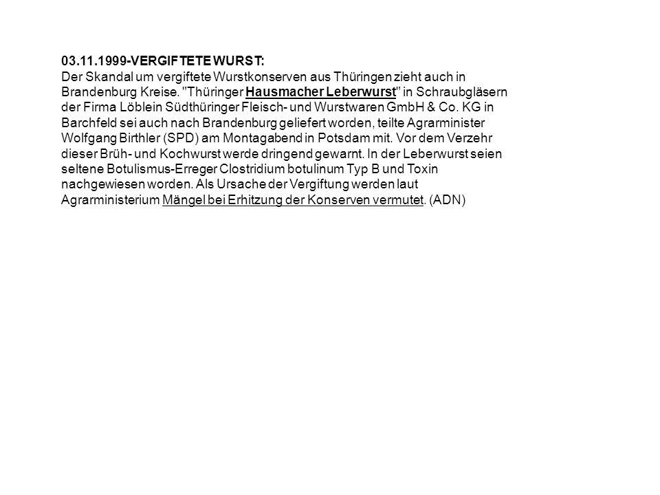 03.11.1999-VERGIFTETE WURST: