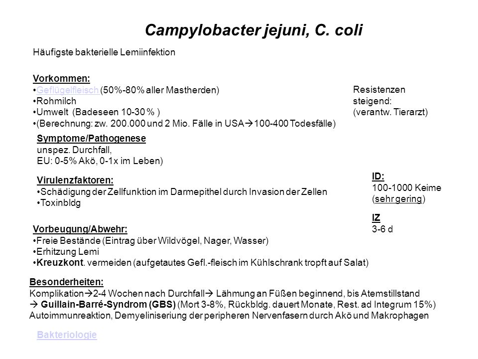 Campylobacter jejuni, C. coli