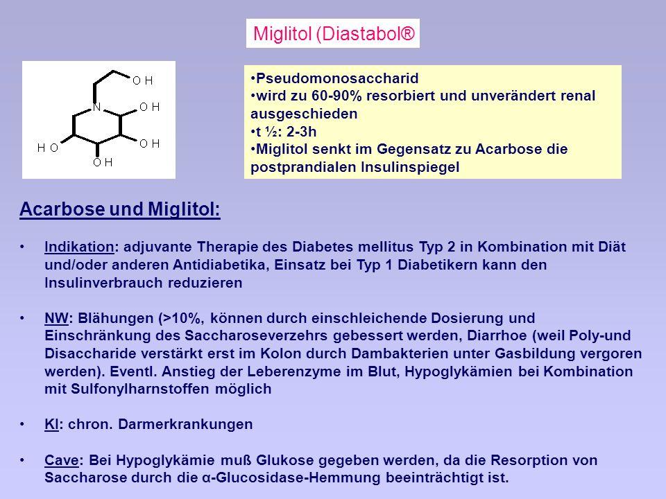 Acarbose und Miglitol: