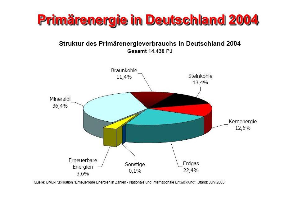 Primärenergie in Deutschland 2004