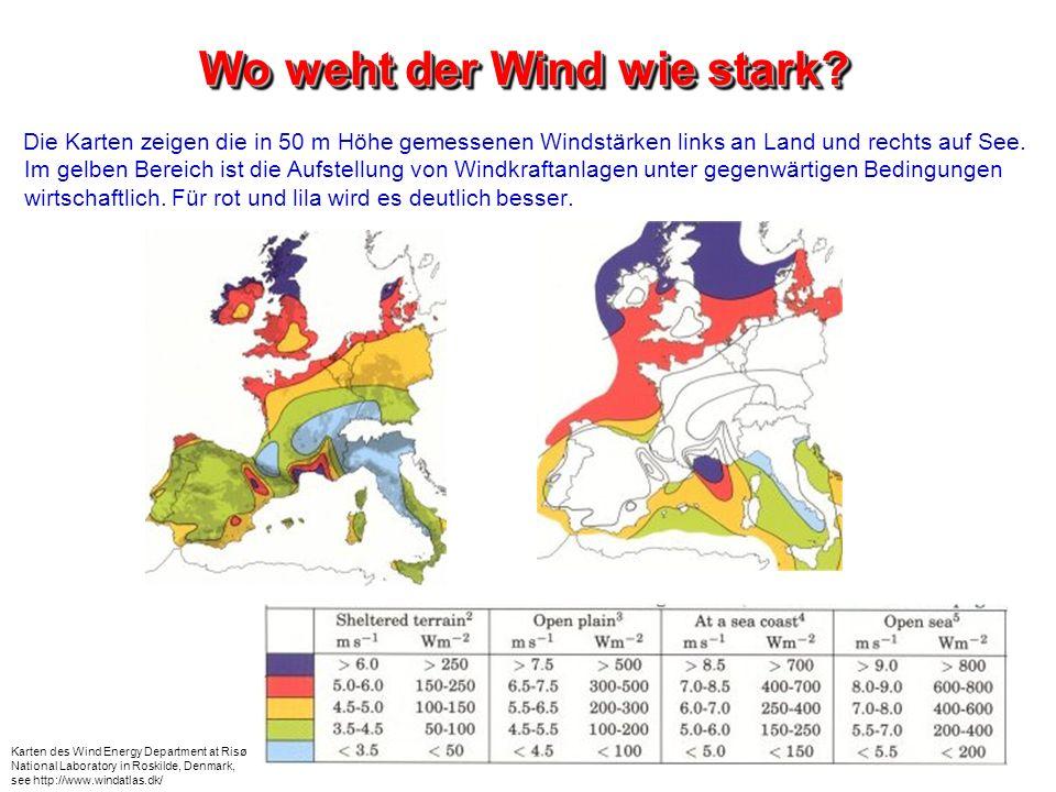 Wo weht der Wind wie stark