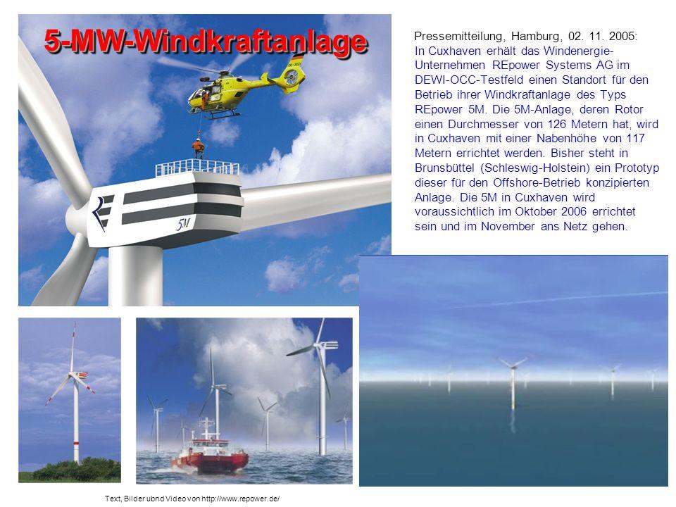 5-MW-Windkraftanlage