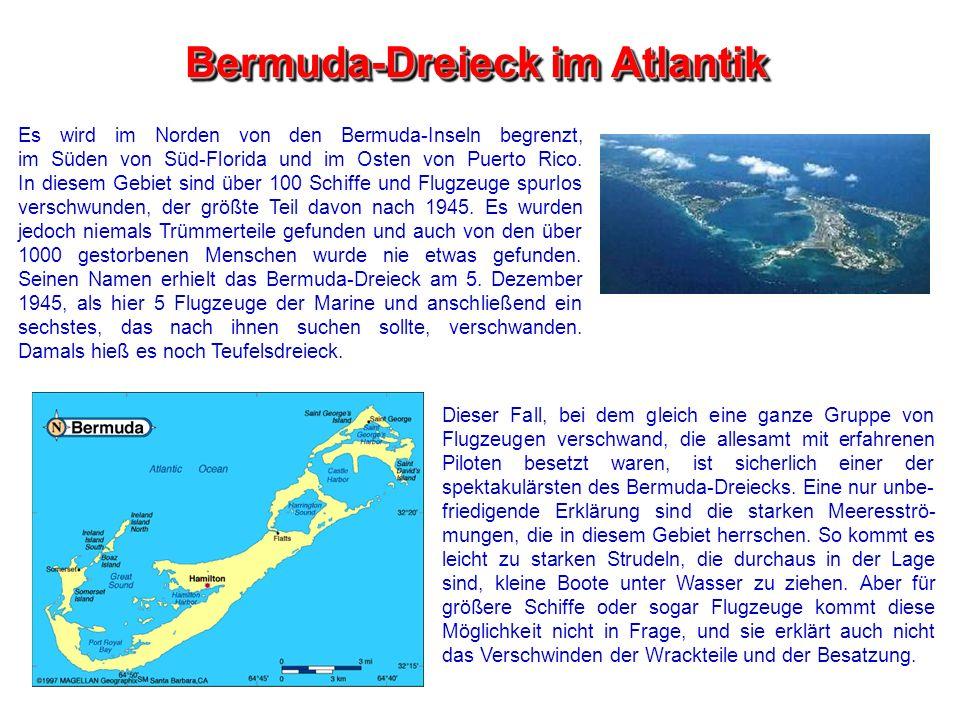 Bermuda-Dreieck im Atlantik