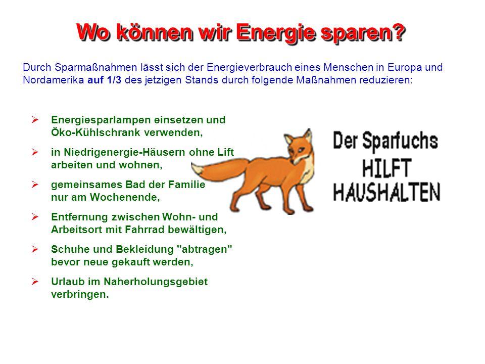 Wo können wir Energie sparen