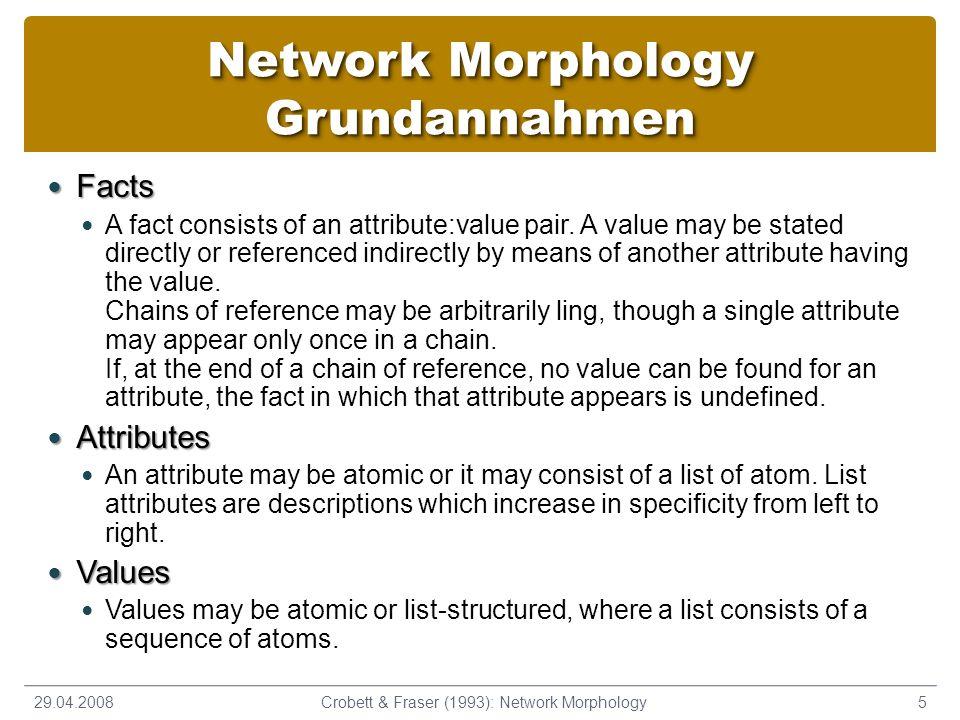 Network Morphology Grundannahmen