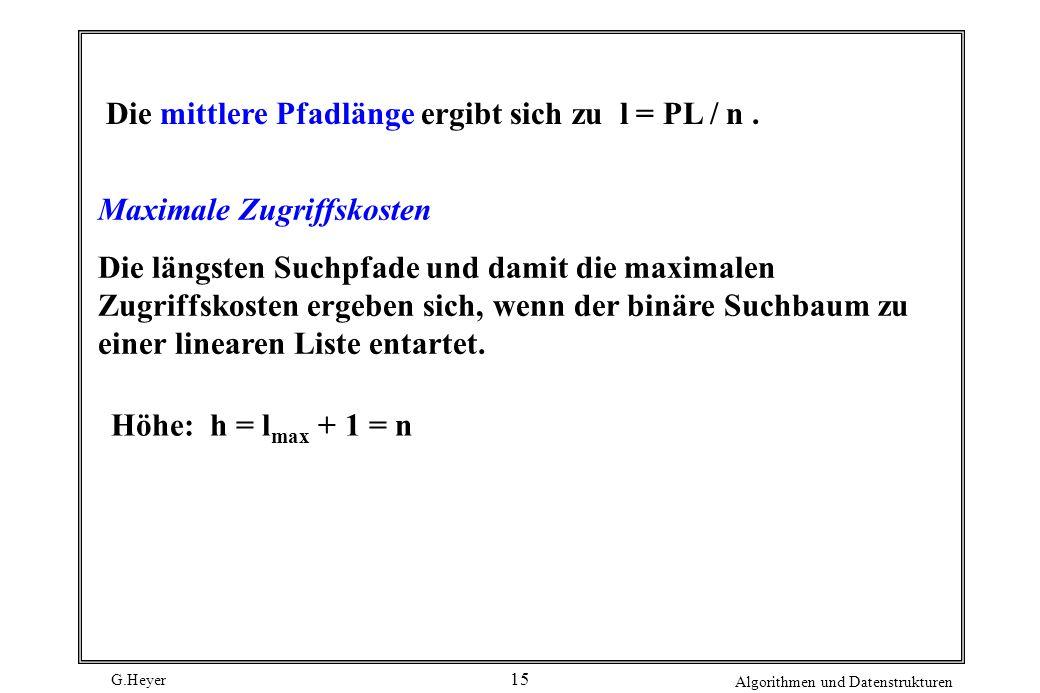 Die mittlere Pfadlänge ergibt sich zu l = PL / n .