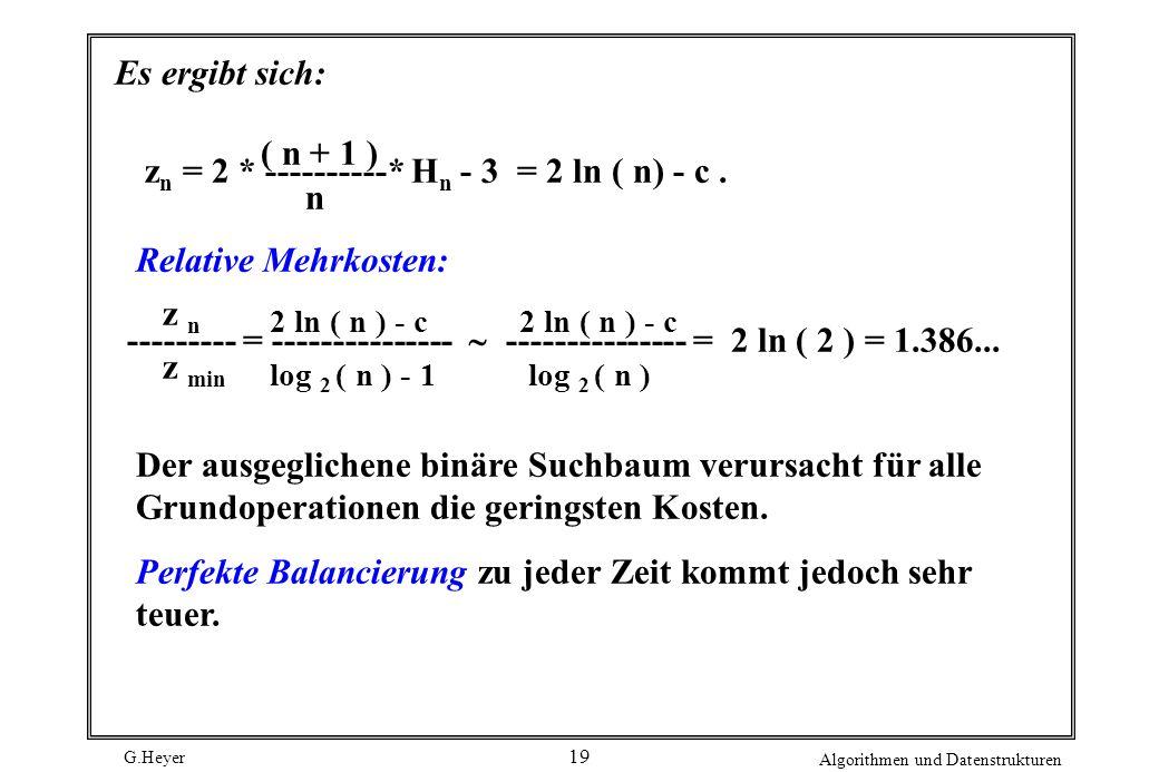 zn = 2 * ----------* Hn - 3 = 2 ln ( n) - c . n