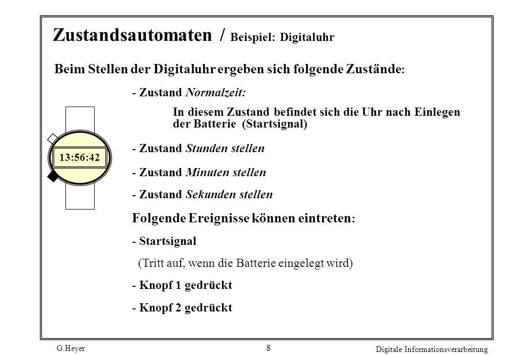 Zustandsautomaten / Beispiel: Digitaluhr