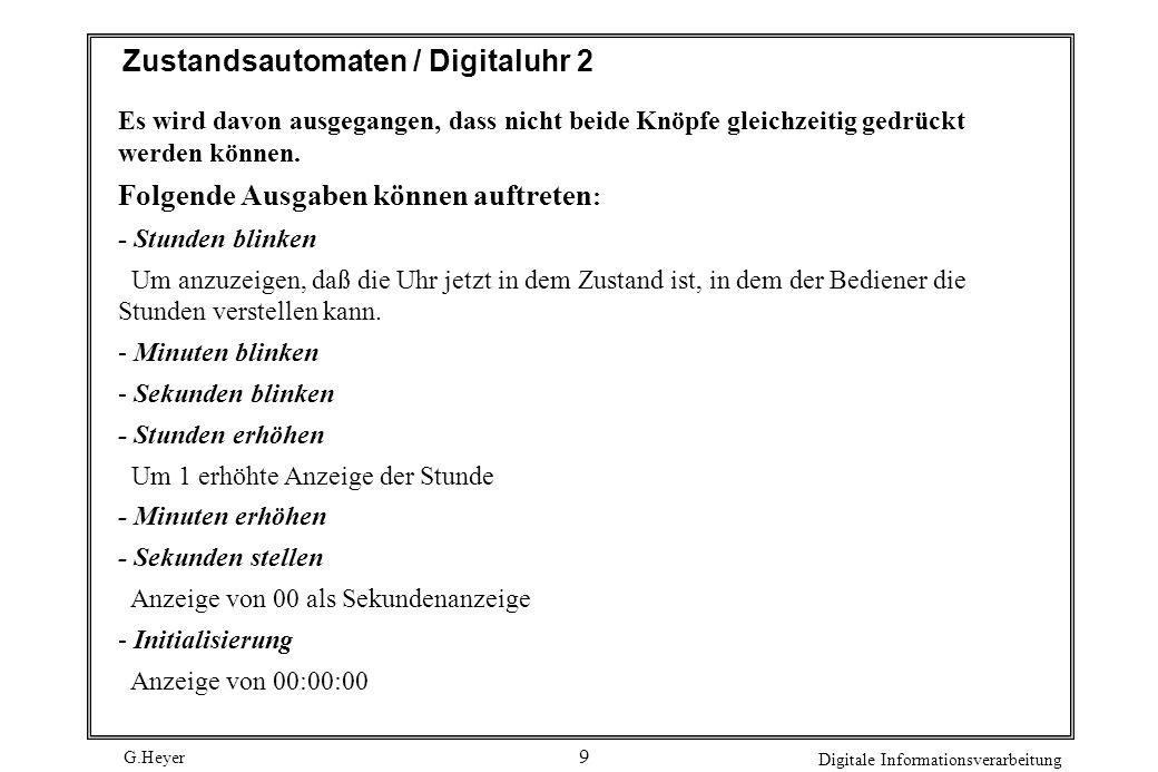 Zustandsautomaten / Digitaluhr 2