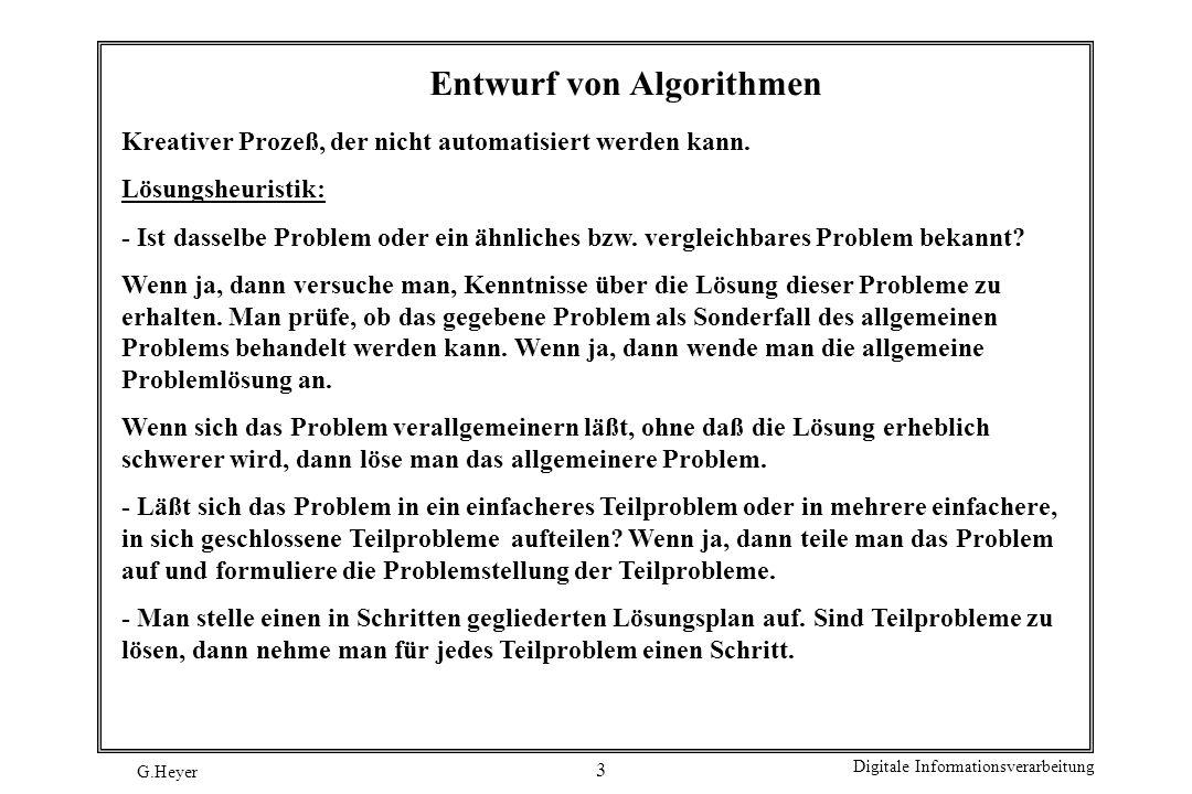 Entwurf von Algorithmen