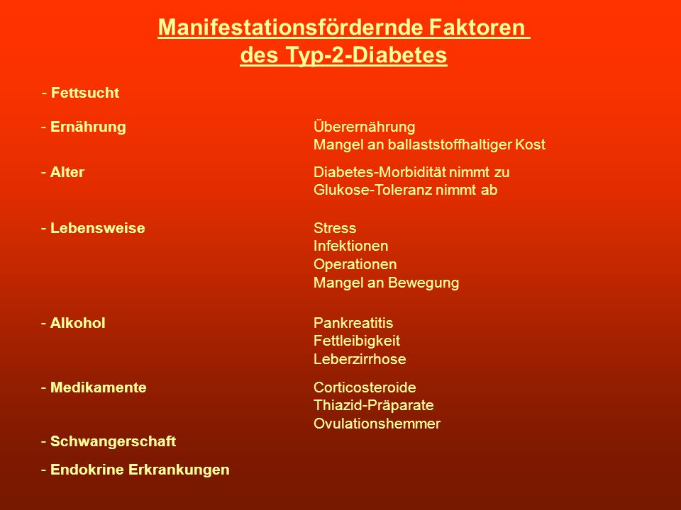 Manifestationsfördernde Faktoren