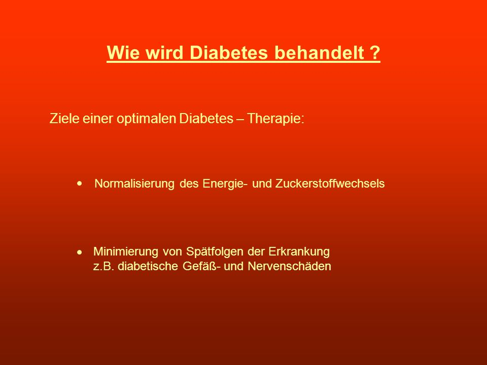 Wie wird Diabetes behandelt