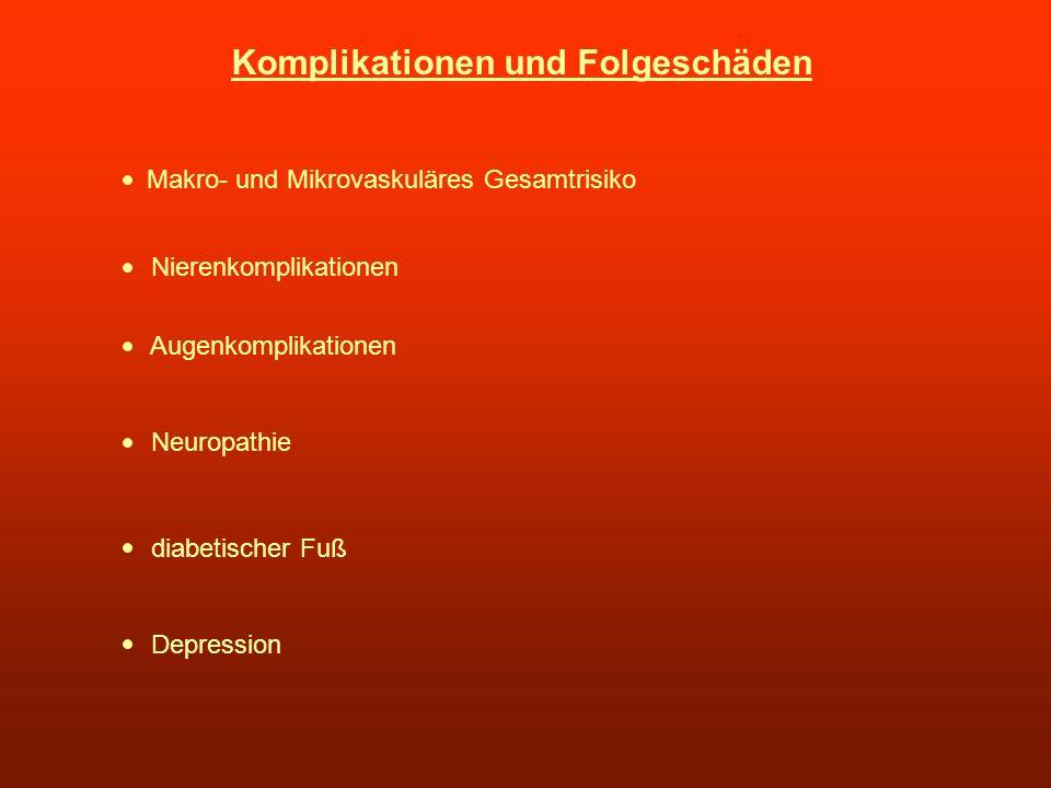 Komplikationen und Folgeschäden