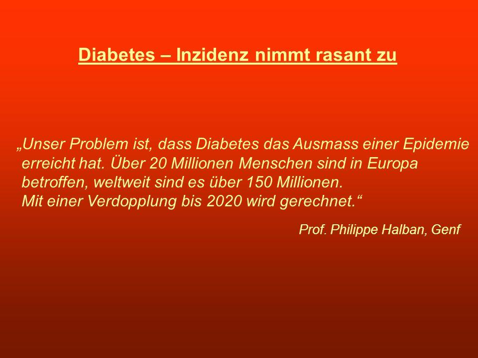 Diabetes – Inzidenz nimmt rasant zu