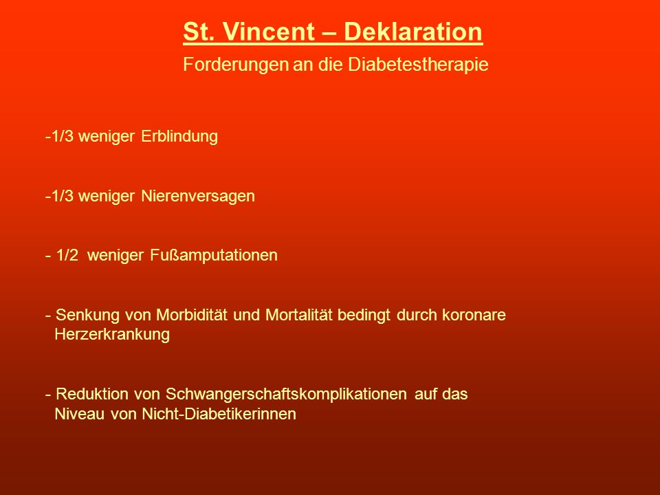 St. Vincent – Deklaration