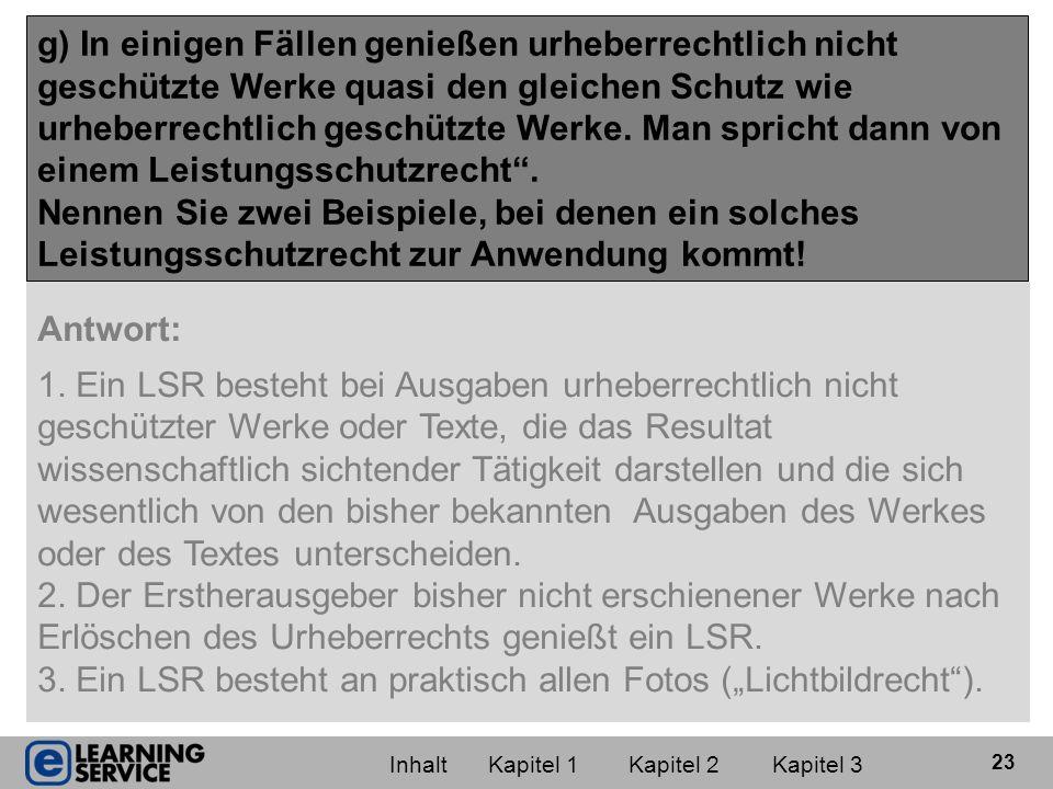 """3. Ein LSR besteht an praktisch allen Fotos (""""Lichtbildrecht )."""